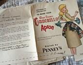 Vintage Cinderella Apron Pattern