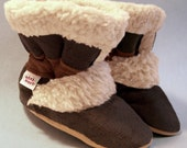 Hot Cocoa - Sherpa Suede Boots for Kids -  4 Sizes - infant to Toddler - Toe-sters