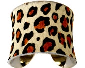 Cheetah Print Pony Hair Cuff Bracelet  - by UNEARTHED