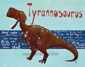 Dinosaur Art, Tyrannosaurus 8x10 Print