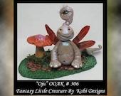 Art Doll Polymer Clay Fantasy Miniature Ado OOAK DollHouse Snail Sculpture