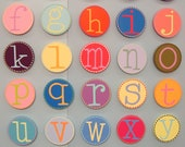 """Childrens Alphabet Handpainted 6"""" Round Wall Letters"""