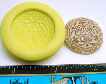 28mm Mold for Buttons or Cabochons in Vintage Tri pattern