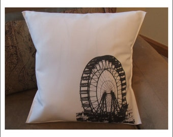 ferris wheel throw pillow cover, decorative throw pillow cover