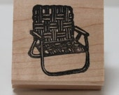 Folding Beach Chair rubber stamp