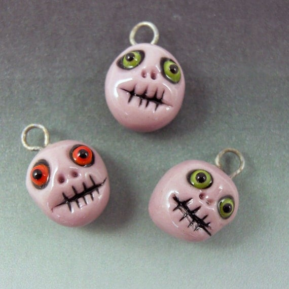 Shrunken Head Charms - SALE PRICE