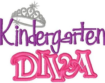 Back To School First 1st Day of School Girls Kindergarten Diva T Shirt