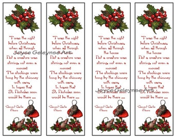 Printable Christmas Bookmarks: Nigh t Before Christmas Poem, Mice ...