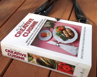 Book Purse made from a Cookbook, Cook Book Handbag, Handmade Upcycled Book Purse, Altered Purse