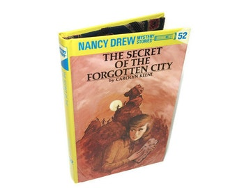 Cover for Kindle Nook or Kobo,Tablet Device Case made from a Nancy Drew Forgotten City Book