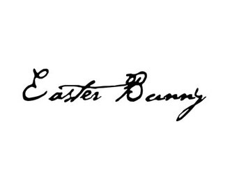 Easter Bunny Signature Rubber Stamp Autograph