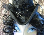 Hat - Burlesque - Victorian - Top Hat -  Goth - Custom for Trixie