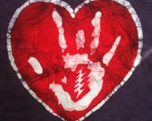 Batik Jerry Hand Heart T Shirt- Women's Size L