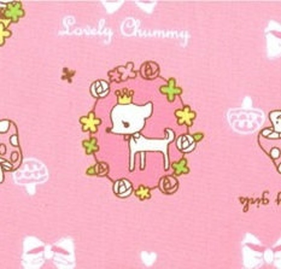 Lovely Puppy and Squirrel Fabric