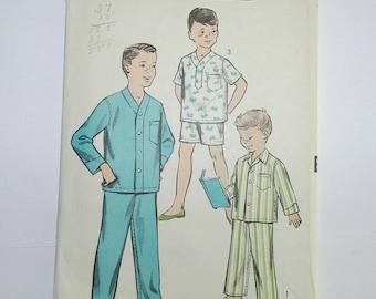 Vintage Advance Pattern 8487, Size 14, boys Pajamas no date about 1950s