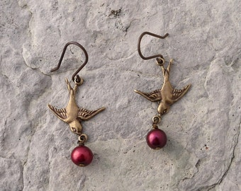 Berries in Flight Earrings