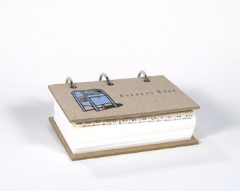 Card-File Address Book Double Stuffed (Blue Post Box)