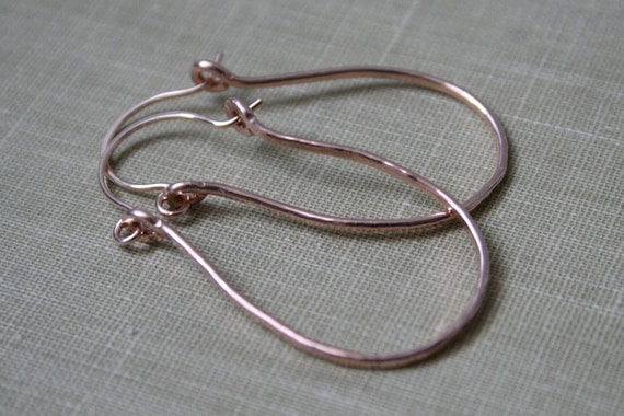 Forged 14K Rose Gold Fill Hoop Earrings