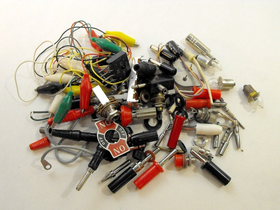 Collection of Vintage Electronic Parts