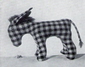 Donkey Toy Vintage Sewing Pattern 1950s  Instant Download Pdf