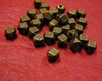 20pc 3.5mm antique bronze fancy metal bead-421A