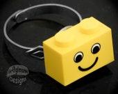 LEGO Smiley Adjustable Ring