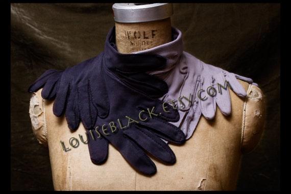 Strangler in the Fog Choker choker by Louise Black Eggplant and Lavender