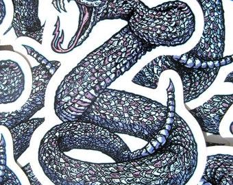 Rattle Snake Killer Die Cut Vinyl Sticker Year Of The Snake - Etsy