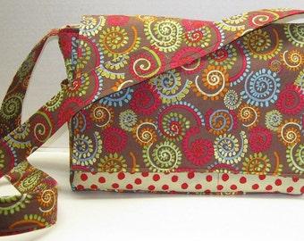 Cross Body Bag or Purse Spinning Fabric