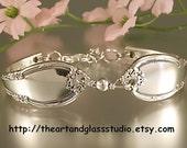 Silver Spoon Bracelet REMEMBRANCE Jewelry Vintage, Silverware, Gift, Anniversary, Wedding, Birthday