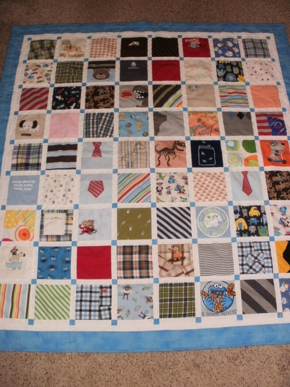 Baby Clothes Quilt Custom Made For Sarah
