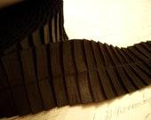 1.5 inch Beautiful Black Pleated Satin Ribbon Trim