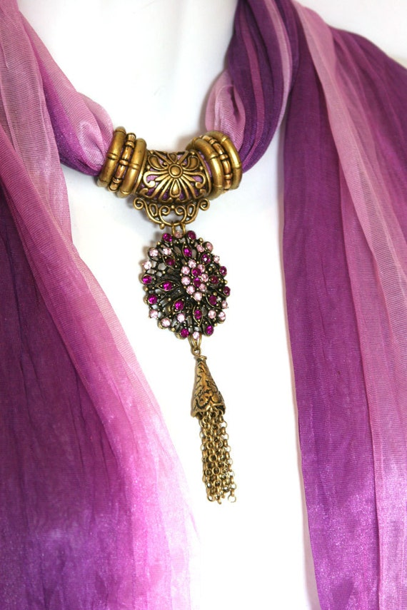 reserved don t buy scarves with jewelry amethyst