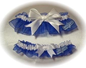 Los Angeles Dodgers Wedding Garter Set   LA  Handmade   Keepsake and Toss  rww