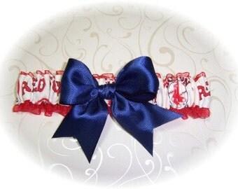 Boston Red Sox Wedding Garter    Handmade    Toss RN