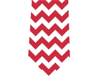 Men's Tie Red Chevron Necktie
