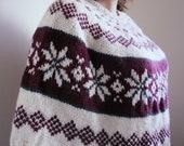 Norwegian Knit Poncho
