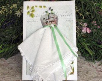 Wedding Prayer Keepsake Hanky Card