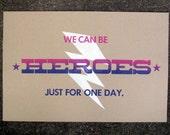 Heroes - letterpress print