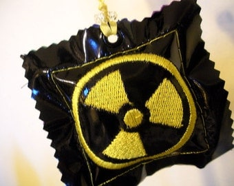 Nuclear Science Symbol Embroidered Pleather Plush Ornament/Decoration