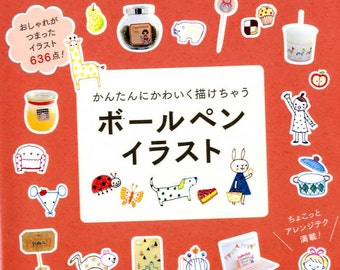 Kawaii Easy Ball-Point Pens Illustrations 636 - Japanese Book MM