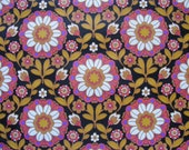 1 meter Vintage wallpaper Sanderson heavy vinyl coating 60's 70's floral black arts and crafts