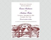 Winery Wedding Save the Date Cards - Vineyard Wedding Save the Dates