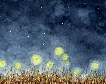"Contemplation of Fireflies 8x10"" Print"