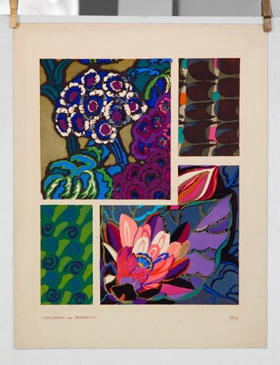 Variations par Benedictus Plate 14 Art Deco Pochoir Fine Art  print 1924