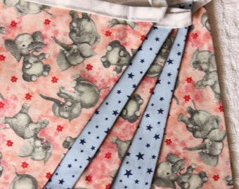 Elephant Fabric Bunting.  Photo Prop, Nursery Decoration, Party Banner, Shower Decor. For Girls Too...