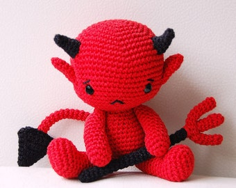 Amigurumi Crochet Devil Pattern - Baby Devil - Softie - Plush