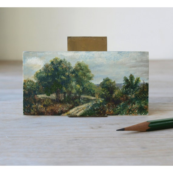 Tiny Little Landscape Painting - Painting by Fred H. Koch - Country Road