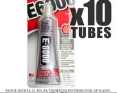 10 Pack of E-6000 Jewelry and Craft Adhesive Large 2 oz Tube Annie Howes is an Authorized Distributor of E6000. Made in USA.