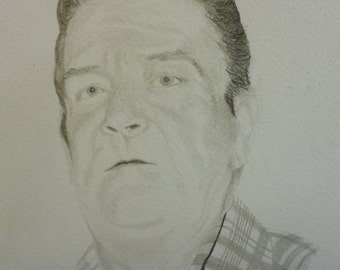 Father Memorial Drawing 9 x 12 inches Portrait U Provide Picture by Pigatopia